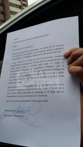 Carta de Renuncia Completa