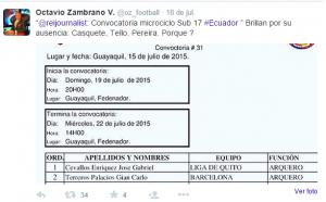 Octavio Zambrano tweet 1