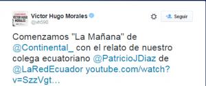 Tweet Victor Morales