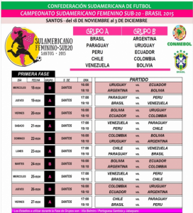 Calendario sud20 femenino