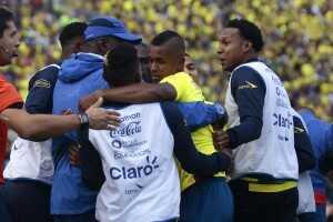 Celebración gol Ecuador