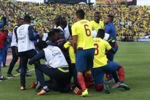 Festejo gol Ecuador