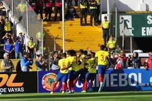 Gol Ecuador celebración