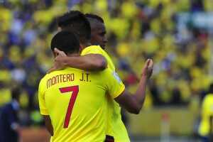 Gol Ecuador festejo