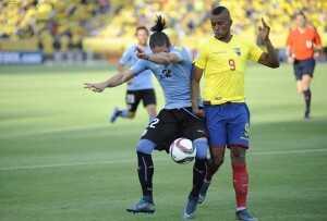 Martínez y Cáceres, Ecuador vs. Uruguay
