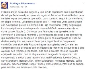 Santiago Ribadeneira Facebook