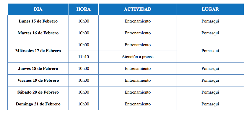 Cronograma LIGA