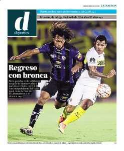 Portada del Diario La Nación 08-07-16