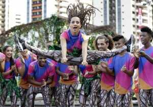 A Brazilian dancer performs at a welcoming ceremony at the 2016 Summer Olympics in Rio de Janeiro, Brazil, Thursday, Aug. 4, 2016. (AP Photo/Robert F. Bukaty)