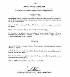 Documento Presidencial