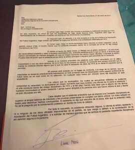 Carta de Leo Messi