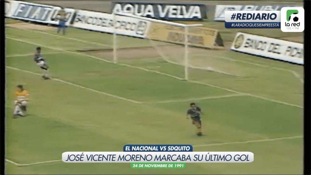 #REDiario | NOV91 | ¡José Vicente Moreno marcaba su último gol en nuestro fútbol!